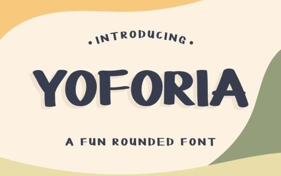 Yoforia Display Font Free