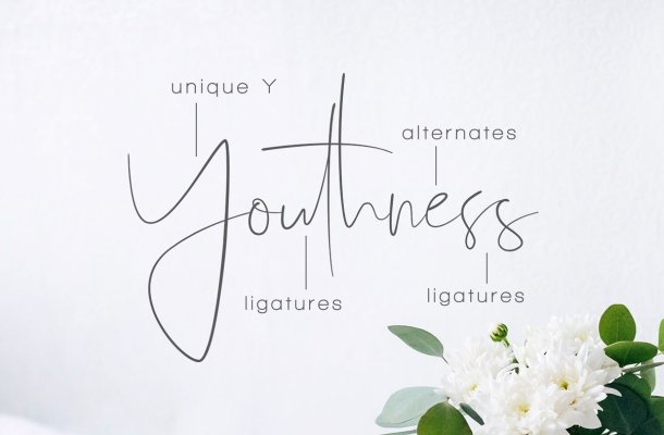 Youthness Script Font Free