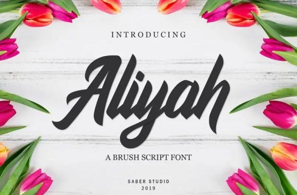 Aliyah Script Font Free