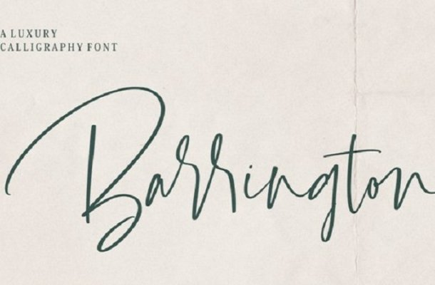 Barrington Calligraphy Font Free