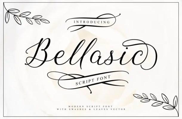 Bellasic Script Font Free