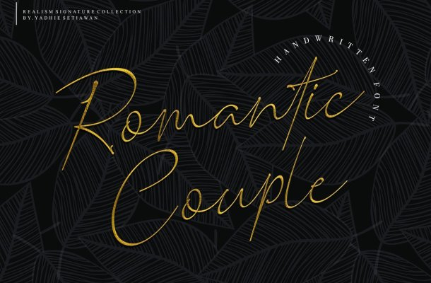 Romantic Couple Handwritten Font