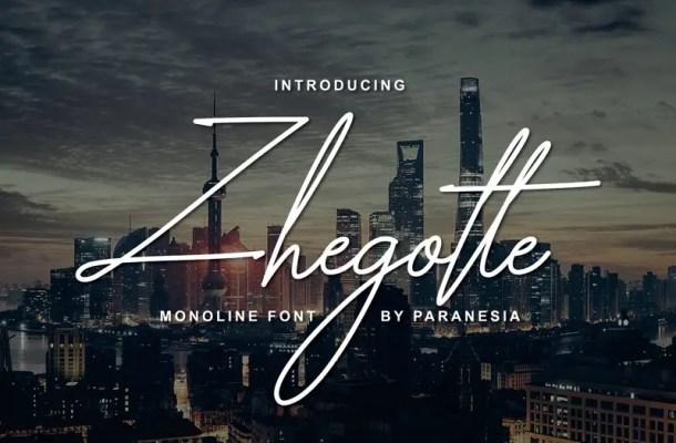 Zhegotte Script Font Free
