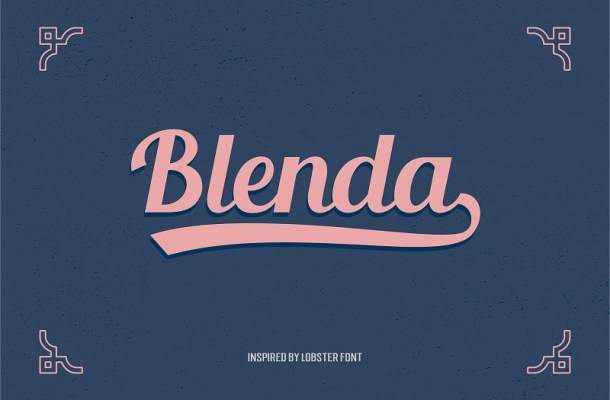 Blenda Script Font Free