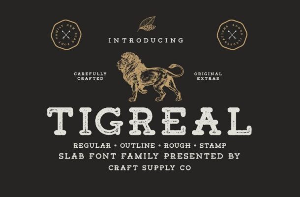 Tigreal Font Family Free