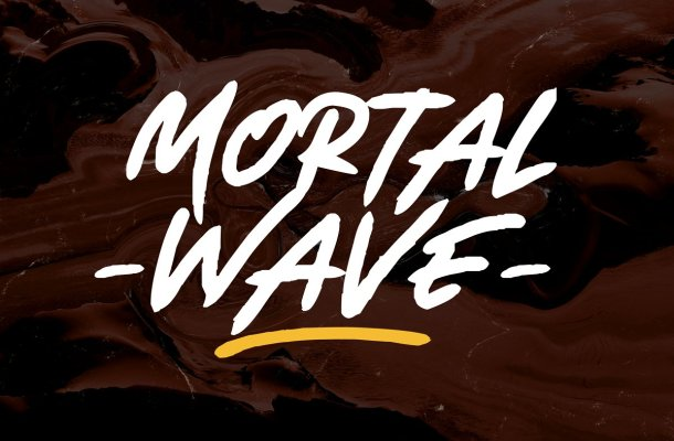 Mortal Wave Dry Brush Font