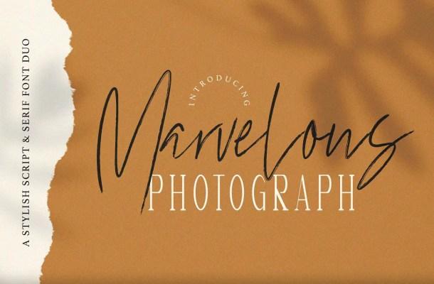 Marvelous Photograph Script Font