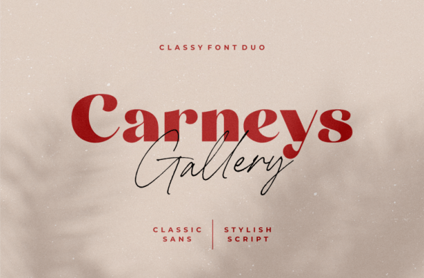 Carneys Gallery Font Duo Free
