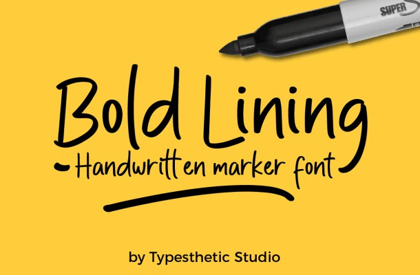 Bold Lining Free Font