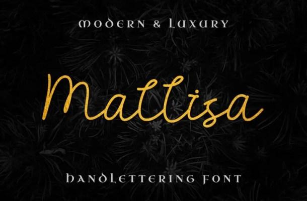 Mallisa Handwritten Font Free