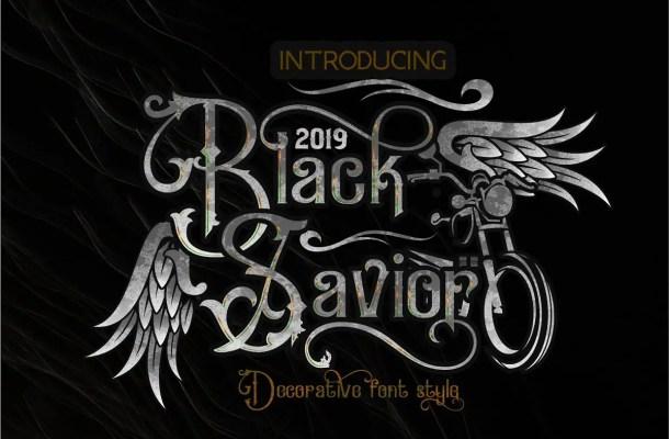 Black Savior Victorian Retro Font