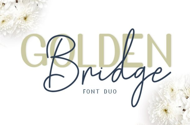 Golden Bridge Font Duo Free
