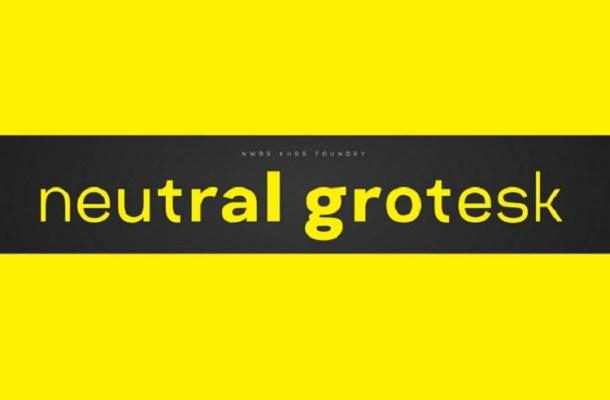 Neutral Grotesk Font Family