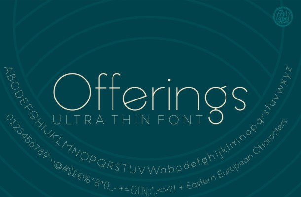Offering Ultra Thin Font Free