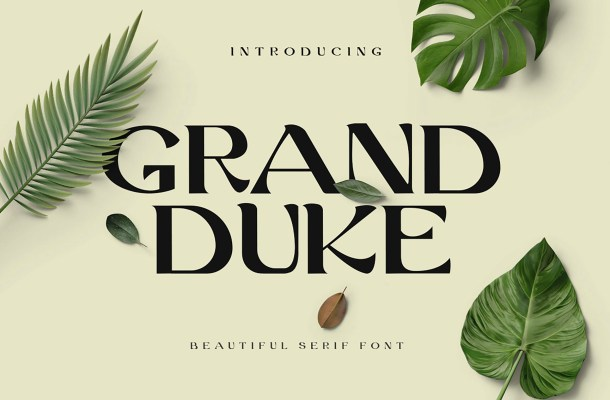 Grand Duke Beauty Serif Font