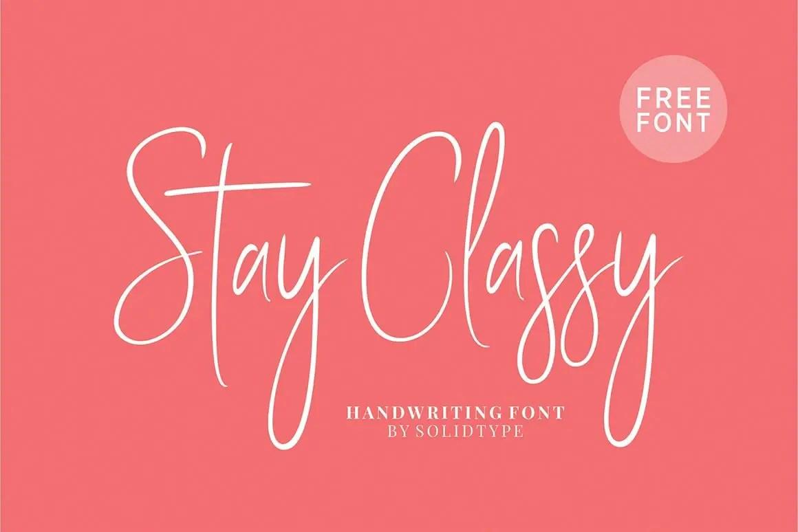 Stay Classy Font 01