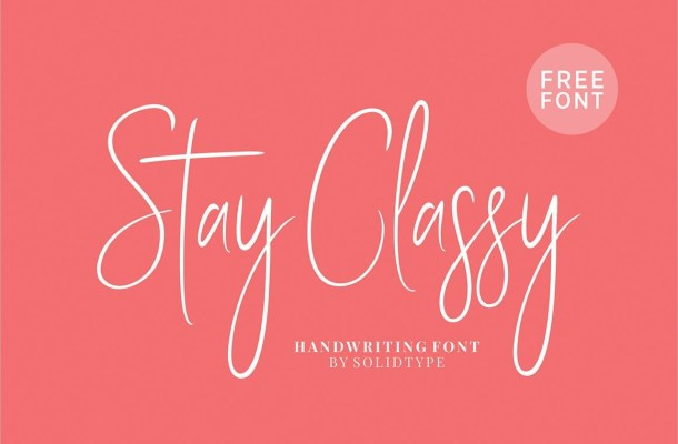 Stay Classy Font Free
