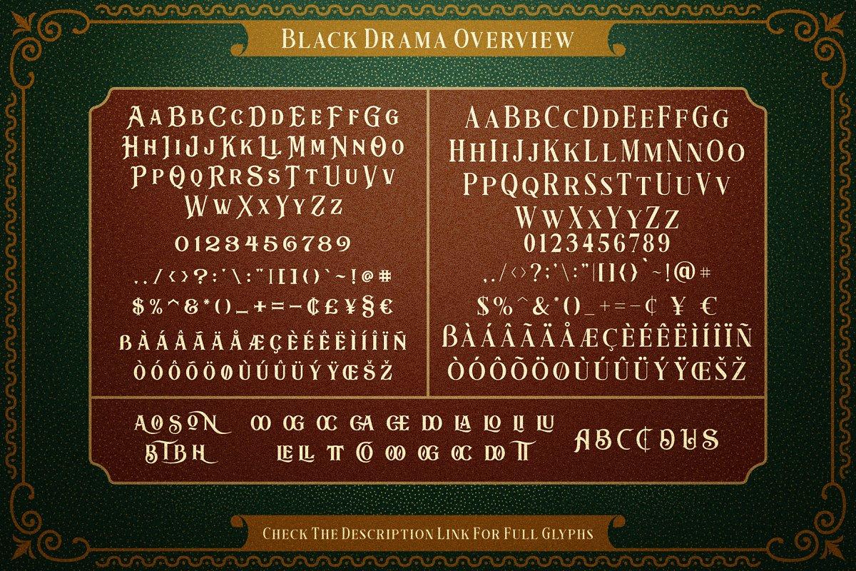 Black Drama Font 03