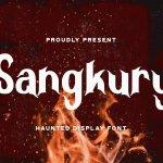 Sangkury Haunted Display Font