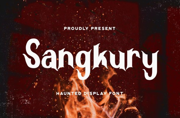 Sangkury Haunted Display Font