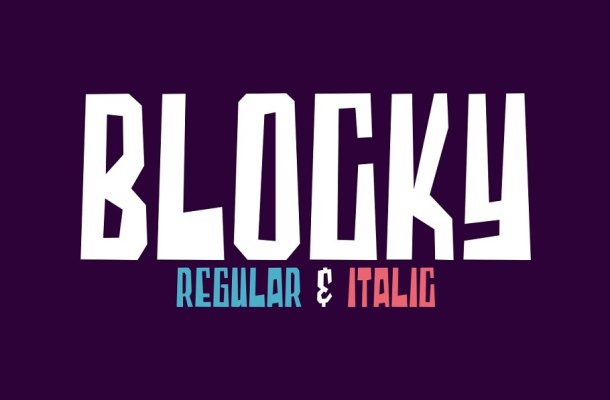 Blocky 2 Styled Font