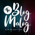 The Blog Malog Script Font