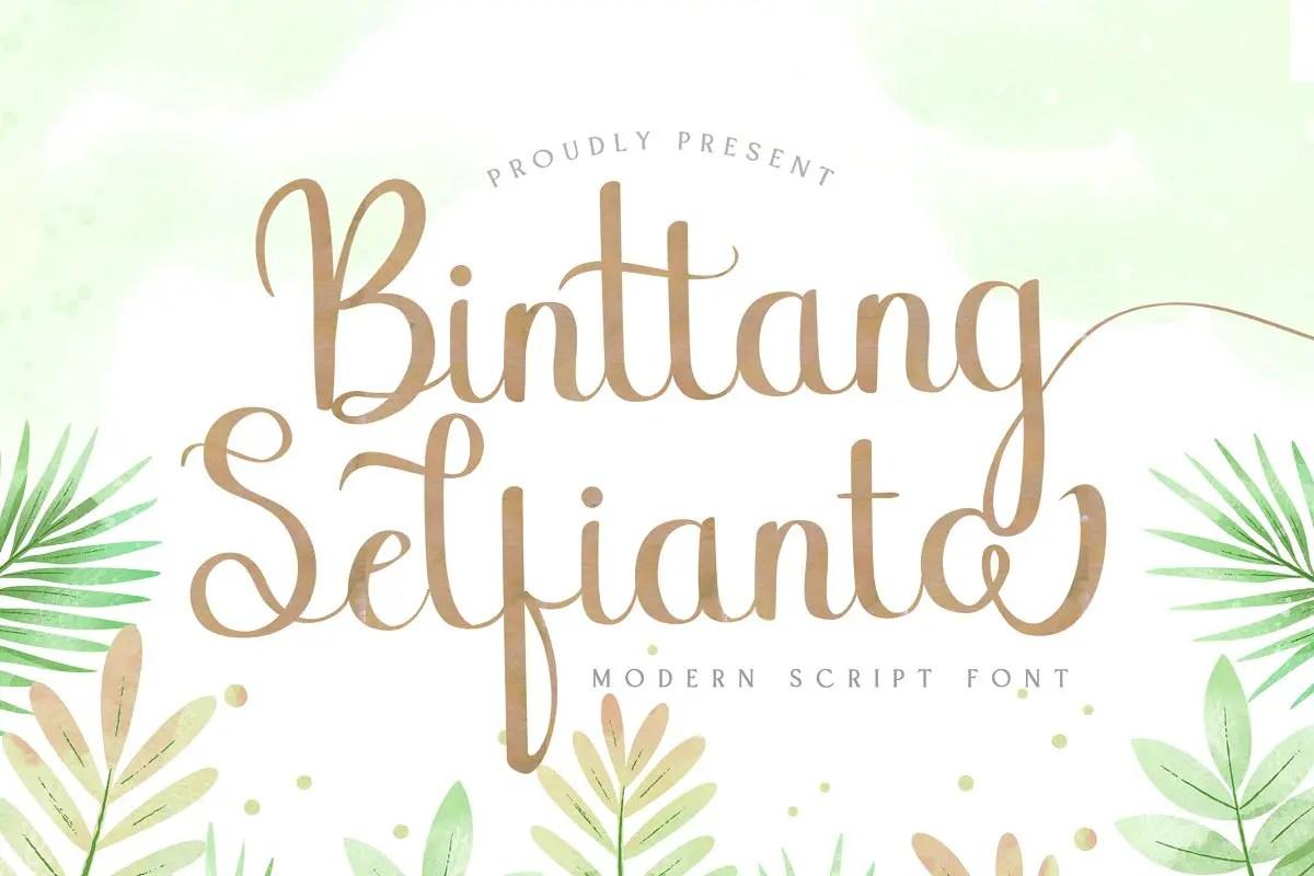 Binttang Selfianto Script Font-1