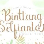 Binttang Selfianto Script Font