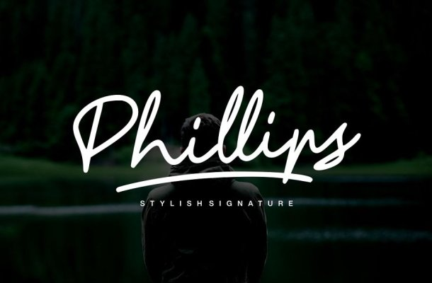 Phillips Signature Font