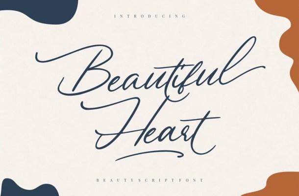 Beautiful Heart Script Calligraphy Font