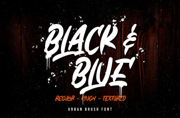 Black & Blue Brush Font