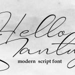 Hello Santuy Calligraphy Font