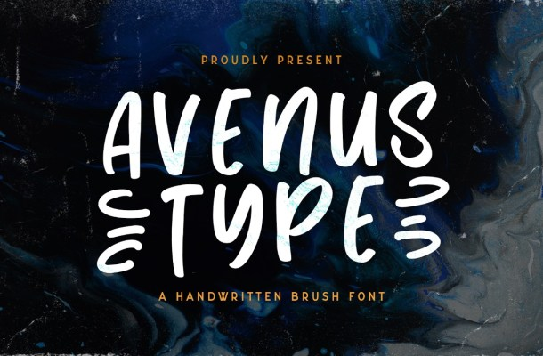 Avenus Type Quirky Display Font