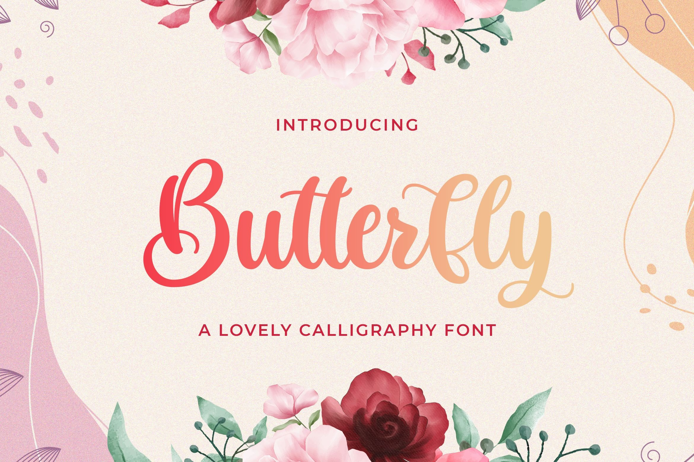 Butterfly Calligraphy Font01