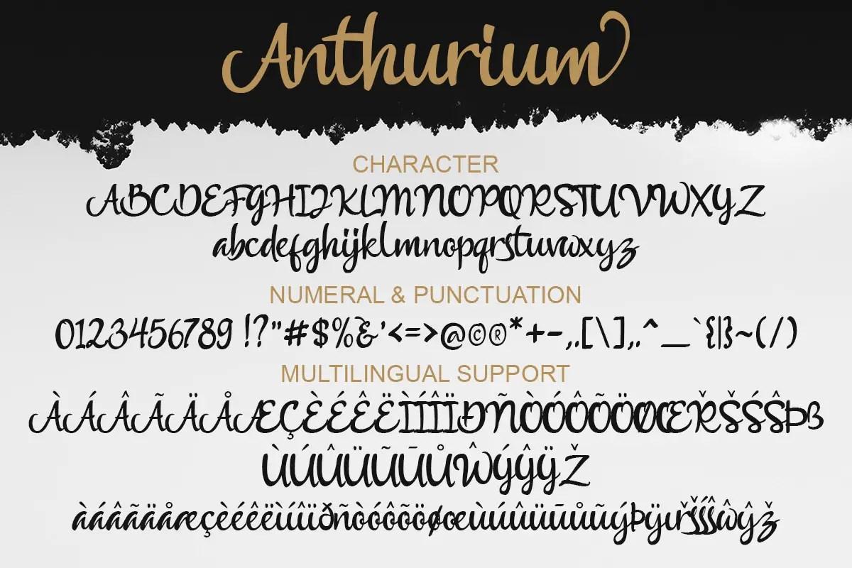Anthurium Script Font-3