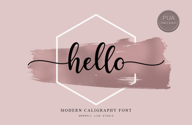Hello Calligraphy Font