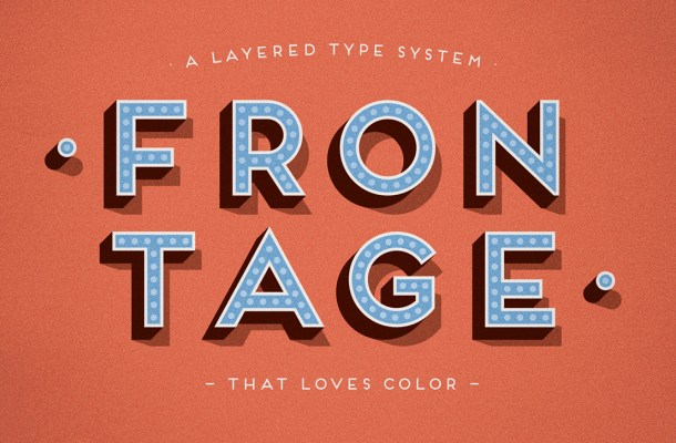 Frontage Outline Display Font