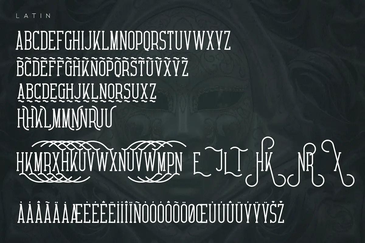 Carnival VP Slab Serif Font03