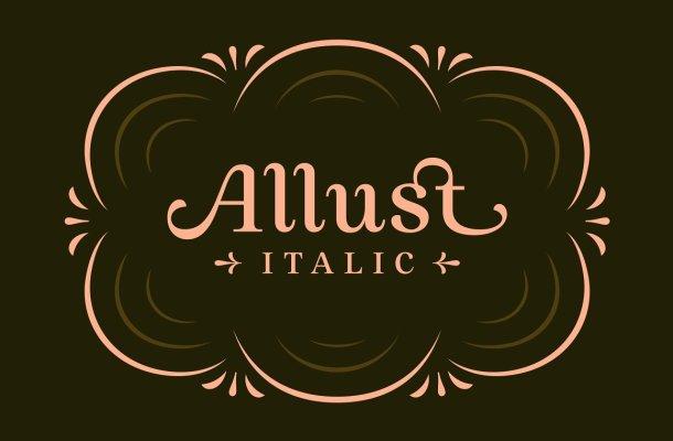 Allust Italic Display Font