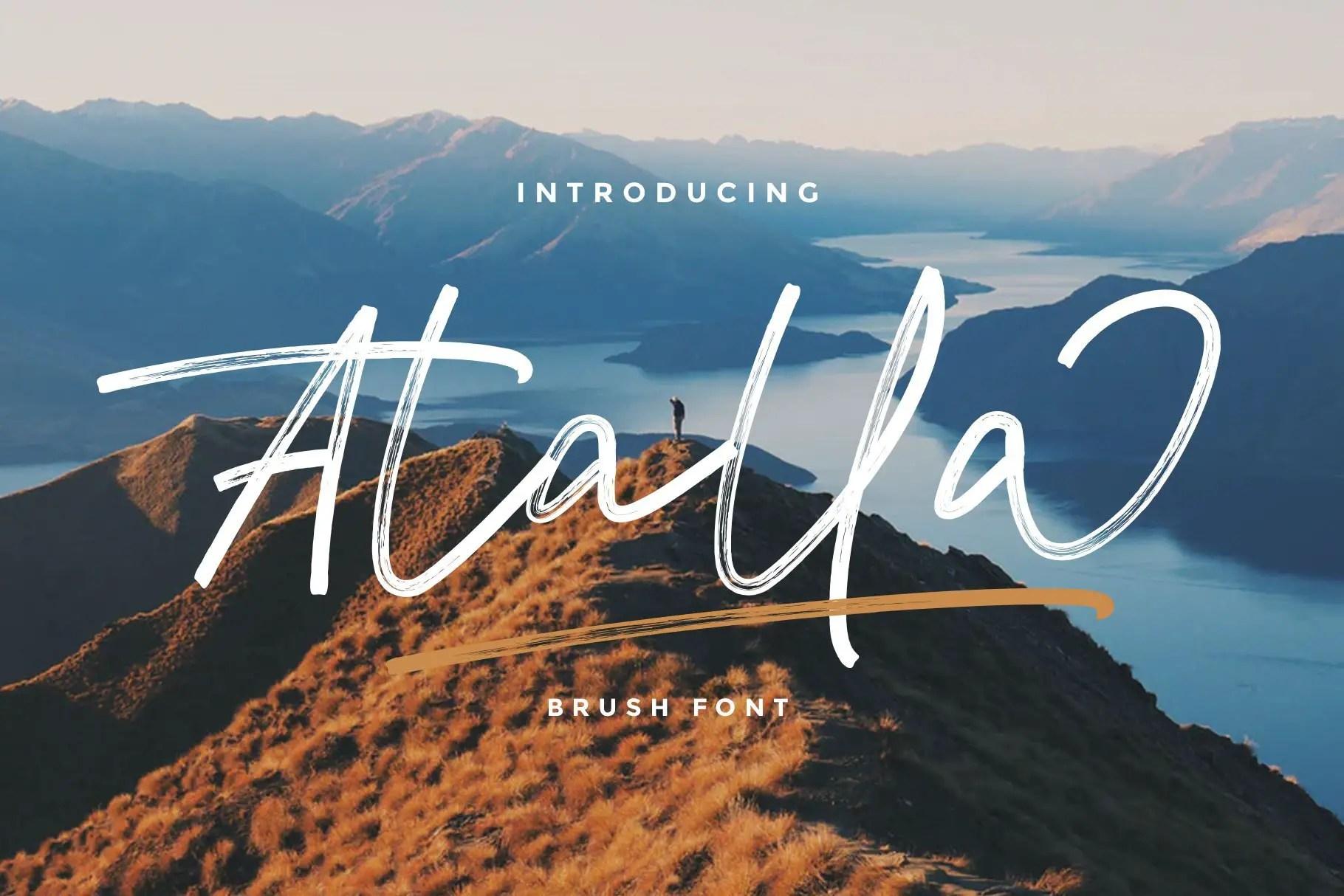 Atalla-Brush-Script-Font-1