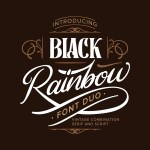 Black Rainbow Vintage Serif Font Duo