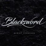 Blacksword Free Script Font