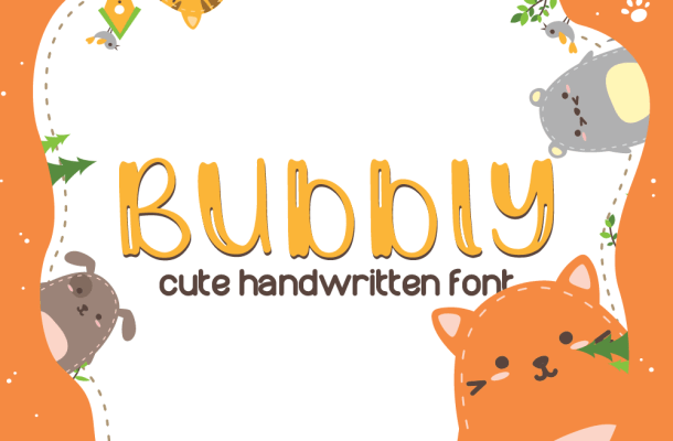 Bubbly Cute Handwritten Font