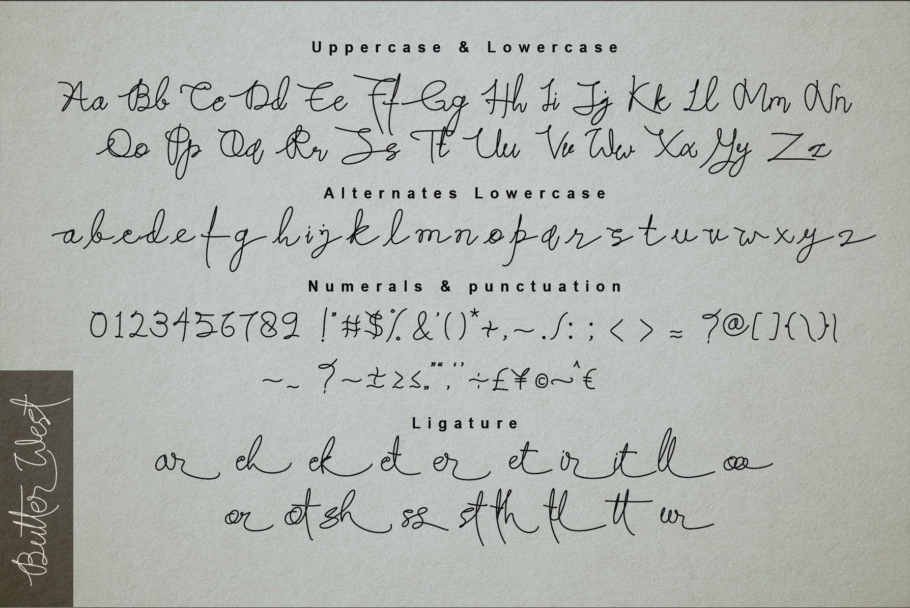 Butter West Signature Script Font-3