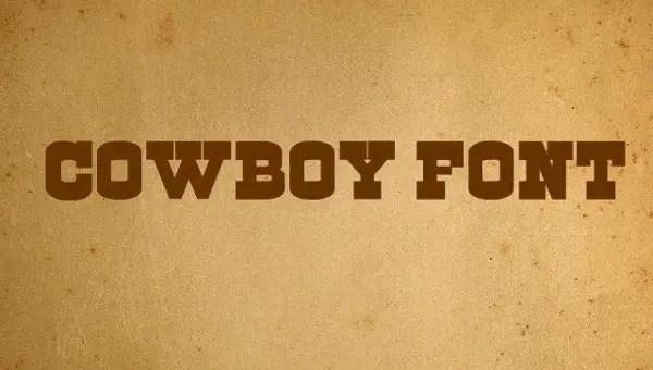 Cowboys Font