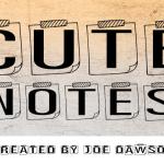Cute Notes Display Font