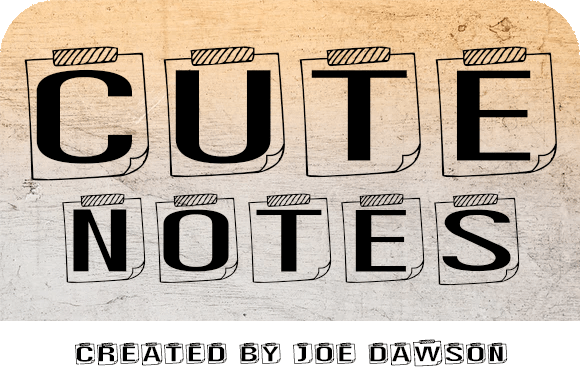 Cute Notes Display Font
