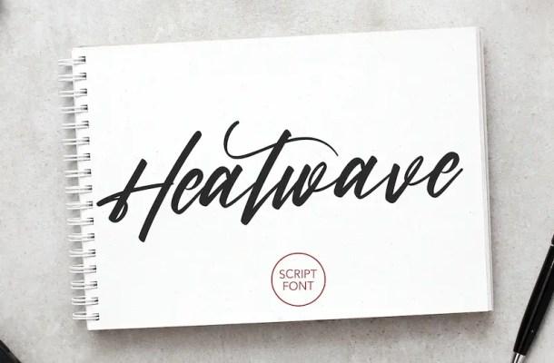 Heatwave Script Brush Font