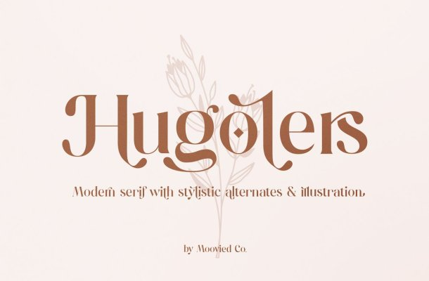 Hugolers Stylish Serif Font