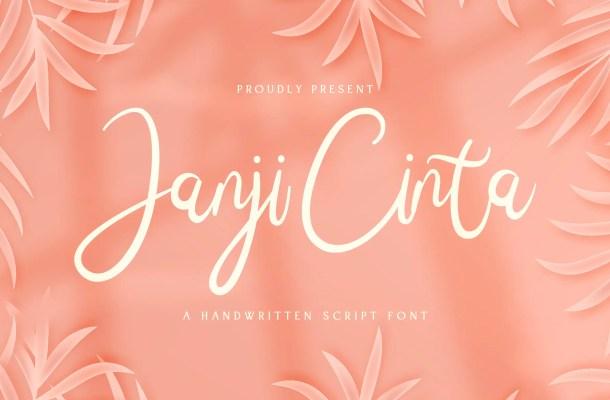 Janji Cinta Script Handwritten Font